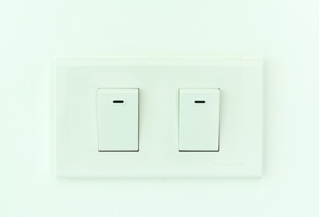 Double electric switch outlet in thailand.