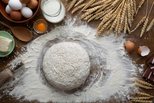 Тесто для выпечки теста по старинному рецепту.