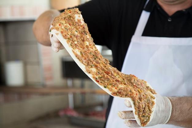 피자 재료로 반죽