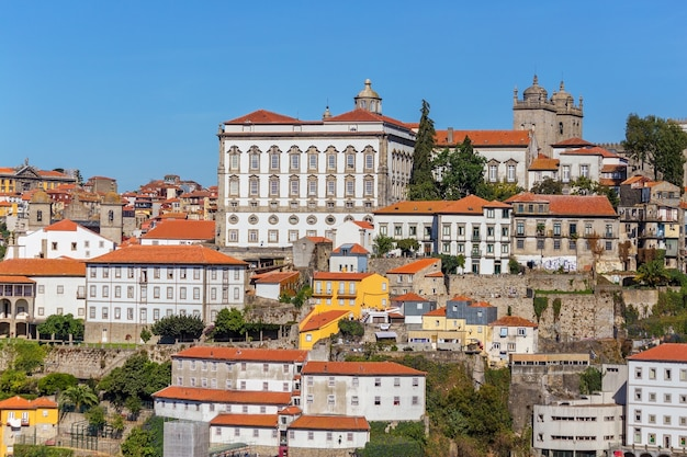 The douro river through the portuguese city of porto.