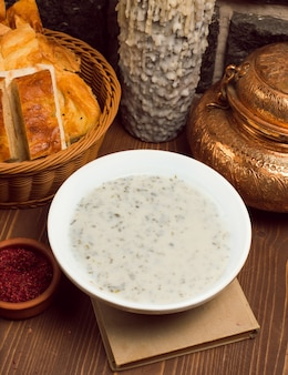 Dovga, yayla, caucasian soup made from yogurt