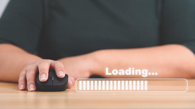 Download upload data information and business progressive concept