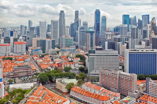 Центр города и китайский квартал сингапура