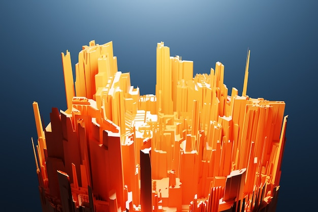 Городские небоскребы делового района. композиция квадратной формы геометрическая