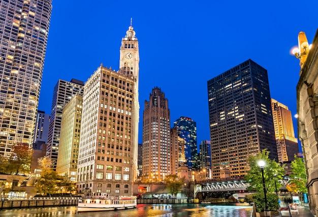 시카고 미시간 애비뉴 브리지 일리노이, 미국