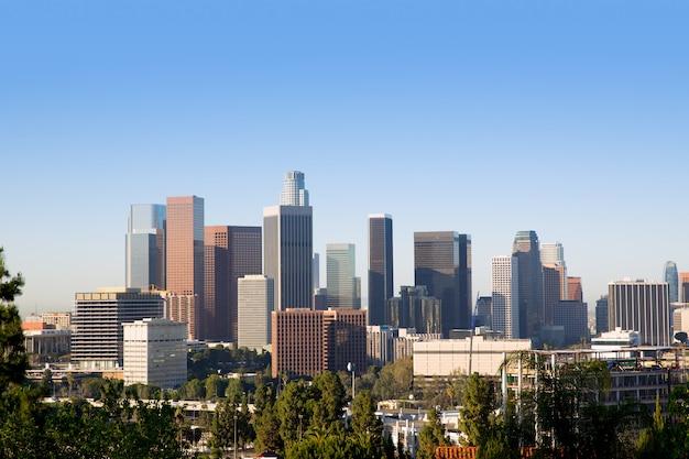 Downtown la los angeles skyline california