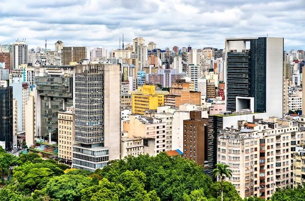 南米ブラジルのサンパウロのダウンタウンの街並み