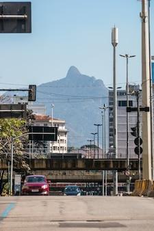 브라질 리우데자네이루 시내 거리.