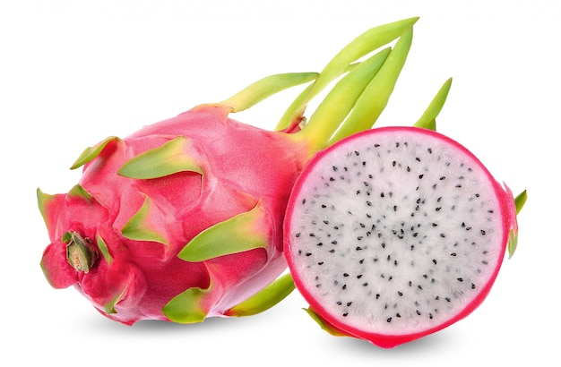 Dragon fruit isolated on white clipping path