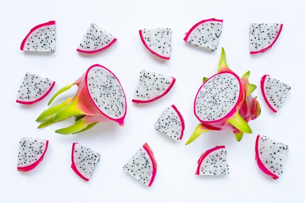 Dragon fruit, pitaya isolated. delicious tropical exotic fruit