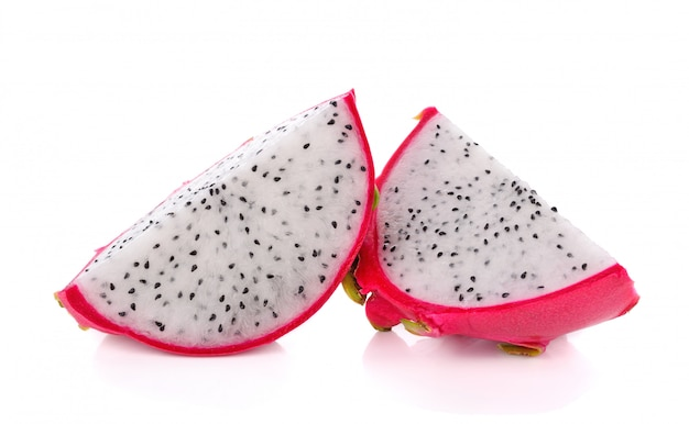 Dragon fruit sliced isolated