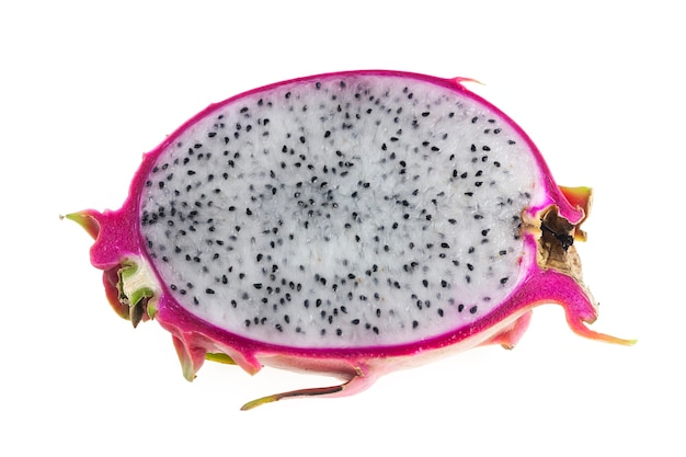 Dragon fruit on white background.