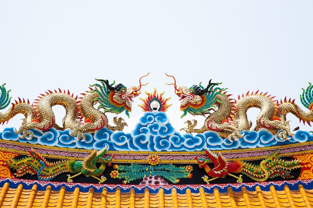 Dragon statue roof.