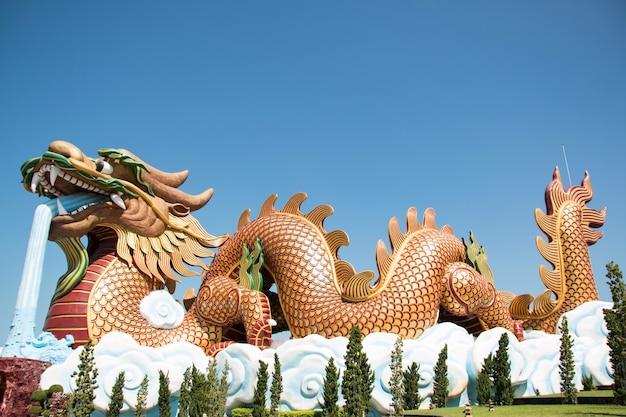 Dragon statue in suphanburi of thailand