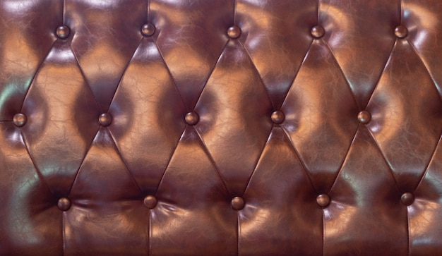 Drak red upholstery artificial leather with rivets