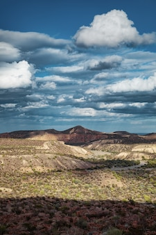 Dramatic cloudscape over scenic canyon on the way to santa rosalia, baja california, mexico