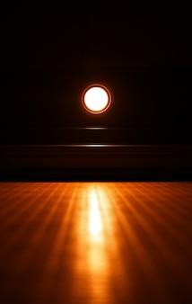 Dramatic led lamp illuminating neon surface background