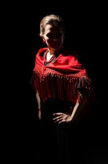 Dramatic portrait of a flamenco dancer