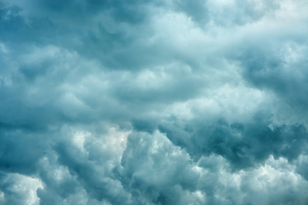 Dramatic sky background with volumetric thunderclouds