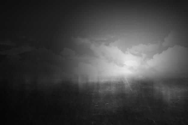 空の暗い雲の劇的なビュー