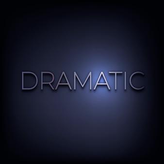 Dramatic word in metallic text style