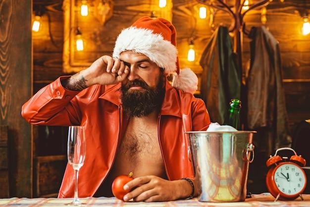 サンタを飲んだ。新年の飲酒。