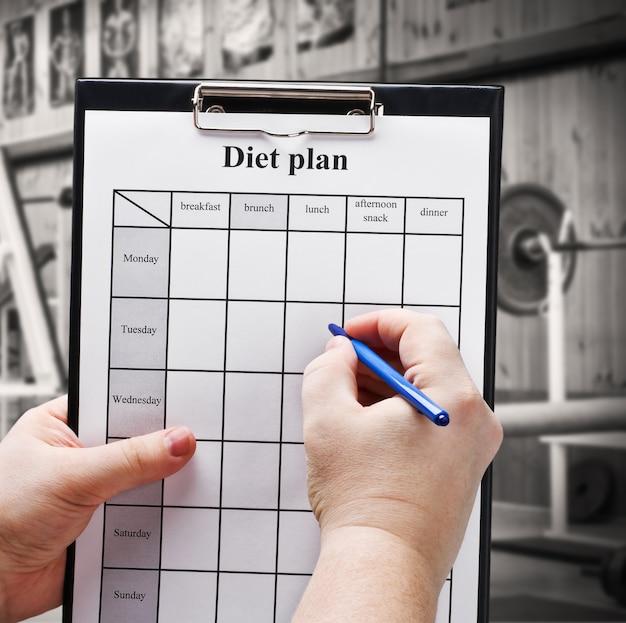 Составьте план диеты
