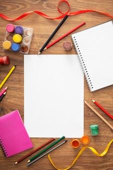 Drawing elements for kids arrangement