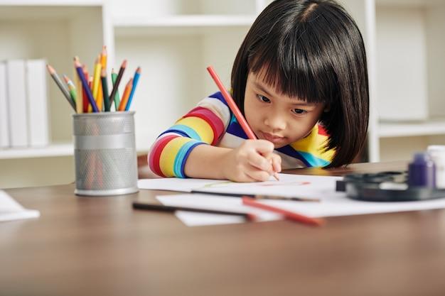 Рисование маленькой девочки