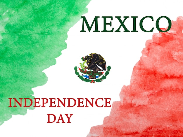 Drawing of the mexican flag background