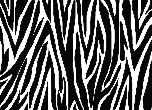 シマウマの皮のパターンを描く
