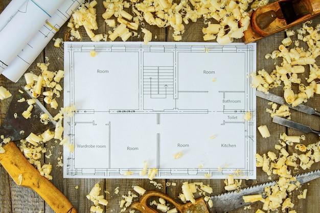 목조 건축 및 작업 도구 도면