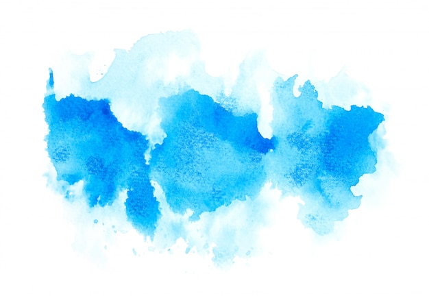 Drawn blue watercolor.