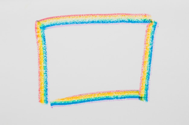 Drawn frame in lgbt colors