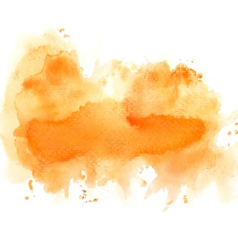 Drawn orange watercolor
