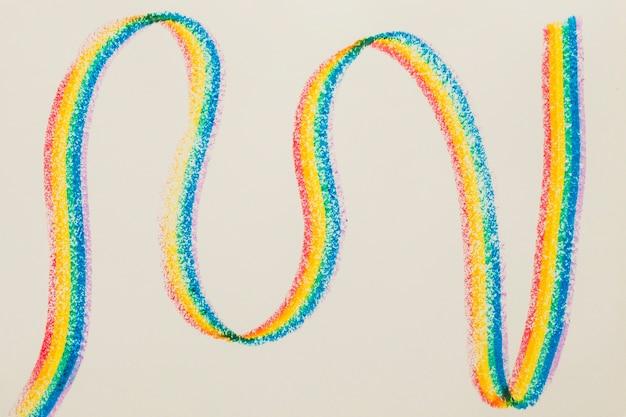 Lgbt 색상으로 그려진 세로 물결 모양의 줄무늬