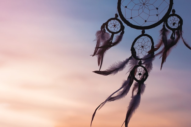 Dream catcher in soft and pastel toned