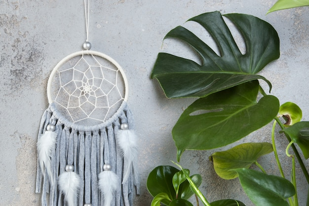 Dream catcher with leaves