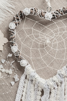 Dream catcher with pearls