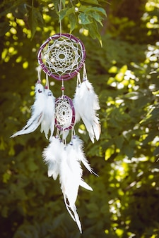 Dream catchers hanging at outdoors