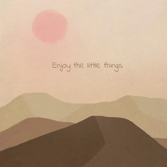풍경에 소셜 미디어를위한 꿈꾸는 동기 부여 카드 템플릿