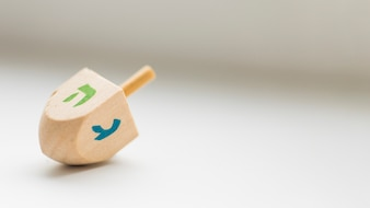 Dreidel on white background