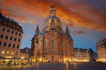ドイツ、ザクセンのドレスデン聖母教会