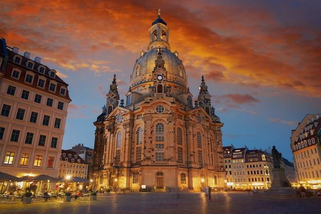 Дрезден фрауэнкирхе церковь в саксонии германия