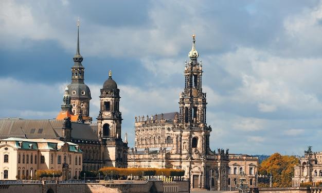 Dresden, germany. hofkirche and residenzschloss