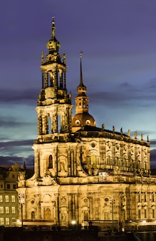 Dresden, hofkirche at night