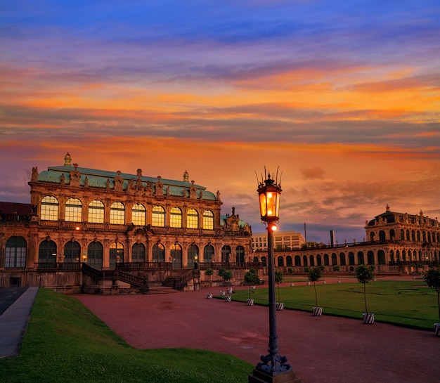 Dresden zwinger in saxony germany