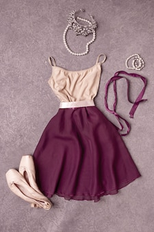 Dress and ballet shoes