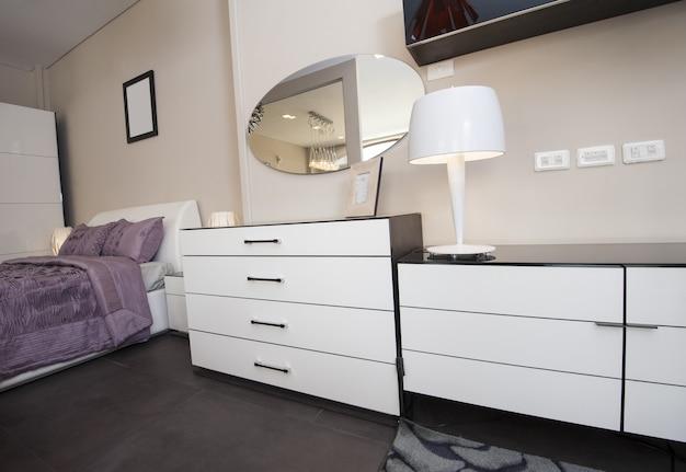 Dresser unit in bedroom of show home