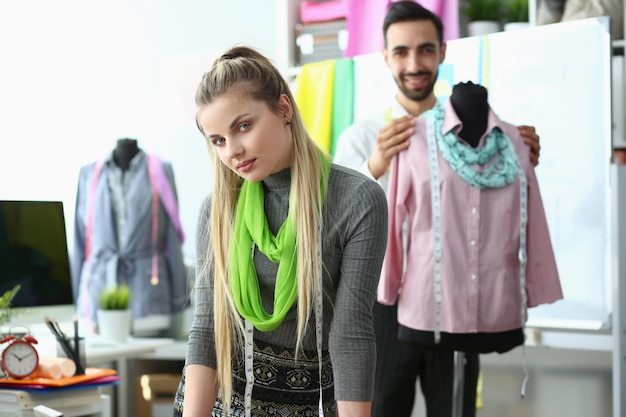 Dressmaking process exclusive clothes creation